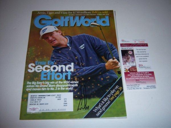 Ernie Els Autographed Signed Golf Pro JSA/COA Golf Magazine