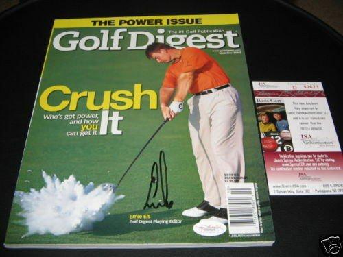 Ernie Els Autographed Signed Masters Winner JSA/COA Golf Magazine