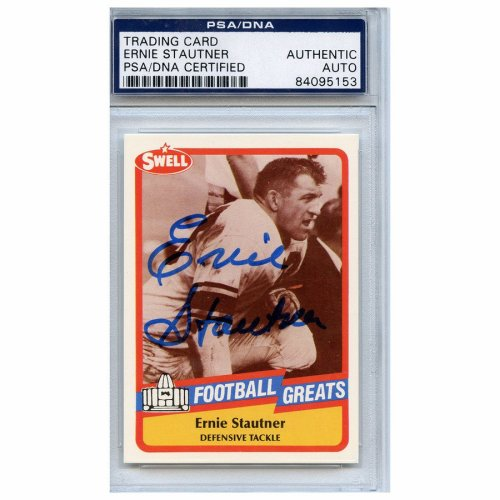 18de0b7c6 Ernie Stautner Autographed Signed Football Trading Card Pittsburgh Steelers  PSA/DNA #84095153