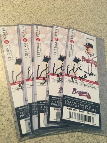Evan Gattis Autographed Signed Ticket Stub 1St MLB Homerun Beckett Authenticated