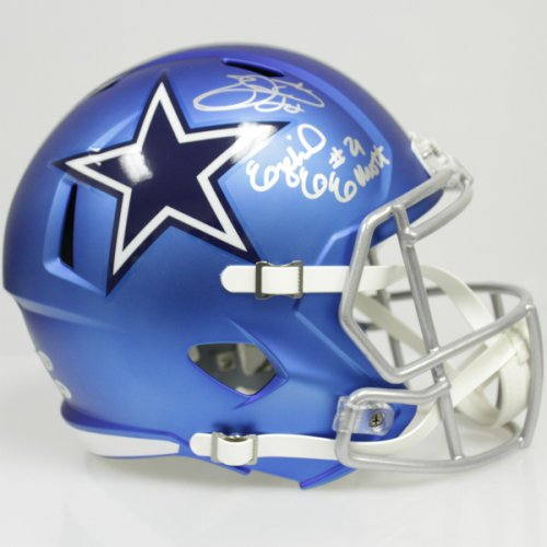 bdf8abc0f73 Ezekiel Elliott and Emmitt Smith Autographed Signed Dallas Cowboys Riddell  Full Size Speed Blaze Replica Helmet - PSA & Beckett Authentic 178