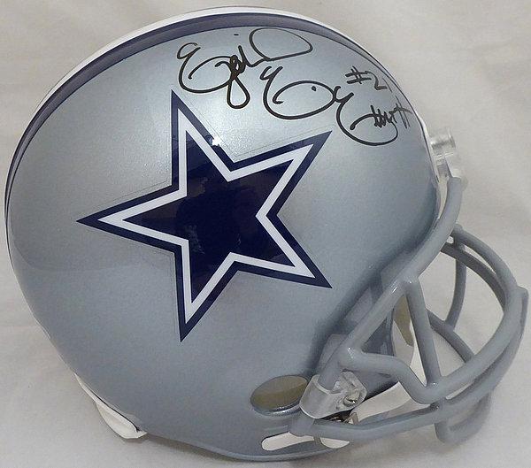 bb4fa5317 Ezekiel Elliott Autographed Signed Dallas Cowboys Full Size Replica Helmet  - Beckett Authentic