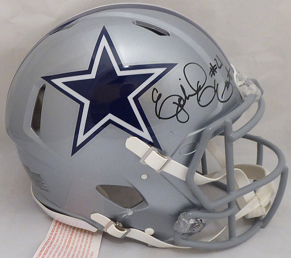 Ezekiel Elliott Autographed Signed Dallas Cowboys Full Size Speed Authentic  Helmet - Beckett Authentic eb8f38f5a