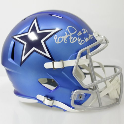 5744e3e06 Ezekiel Elliott Autographed Signed Dallas Cowboys Riddell Full Size Speed  Blaze Replica Helmet - Beckett Authentic