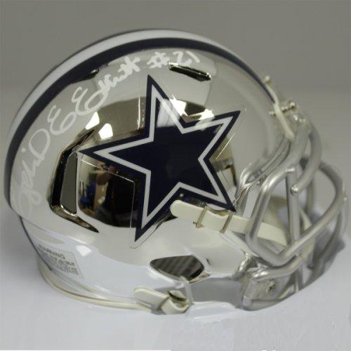 d2b7e93bb45 Ezekiel Elliott Autographed Signed Dallas Cowboys Riddell Speed Chrome Mini  Helmet - Beckett Authentic