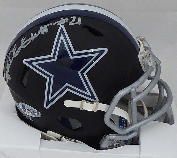 82c08b3be Ezekiel Elliott Autographed Signed Memorabilia Dallas Cowboys Matte Black  Speed Mini Helmet - Beckett Authentic