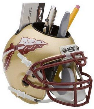 Florida State Seminoles Gold Schutt Mini Helmet Desk Caddy