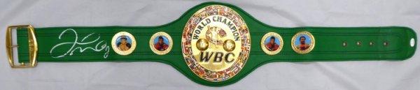 Floyd Mayweather Jr. Autographed Signed Green WBC Full Size Belt JSA