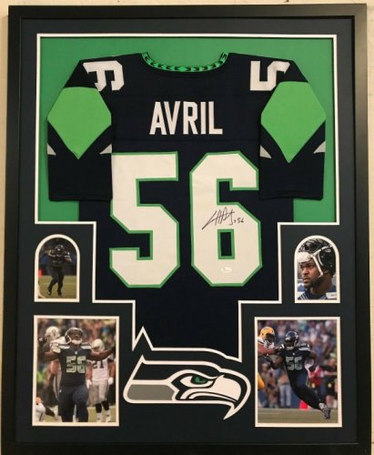cfdde290643 Framed Cliff Avril Autographed Signed Seattle Seahawks Jersey - JSA  Authentication