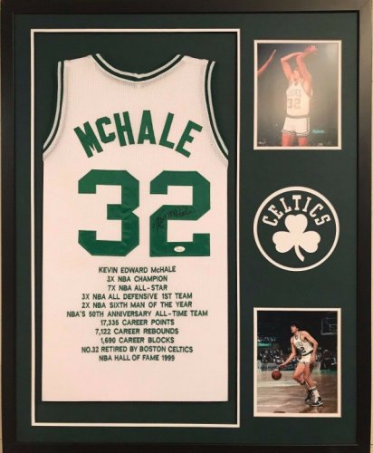 80ae070c0ad2 Framed Kevin Mchale Autographed Signed Boston Celtics Stat Jersey - JSA  Authentication