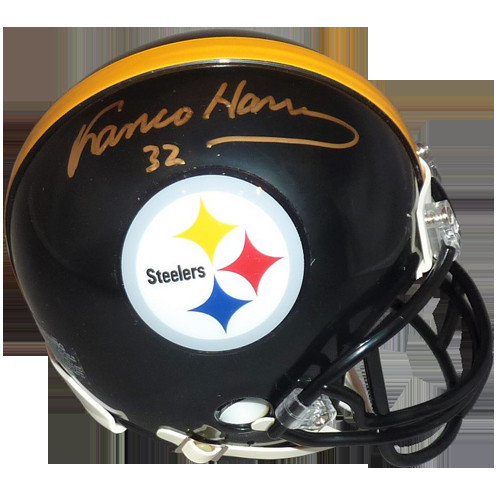 9e4cef327 Franco Harris Autographed Signed Auto Pittsburgh Steelers Mini Helmet   JSA  - Certified Authentic
