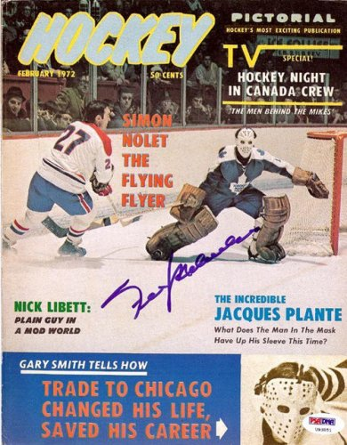 Frank Mahovlich Autographed Signed Magazine Cover Canadiens - PSA/DNA Certified