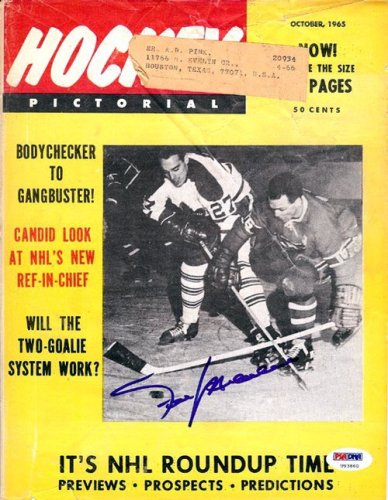 Frank Mahovlich Autographed Signed Magazine Cover Maple Leafs - PSA/DNA Certified