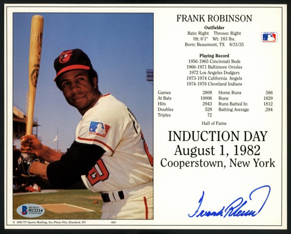 Reds  B/&W Frank Robinson #2 Photo 8x10