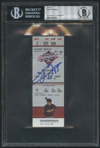 Frank Thomas Autographed Signed 500 Home Run Game Ticket (2007) Beckett Beckett Encapsulated Autograph!
