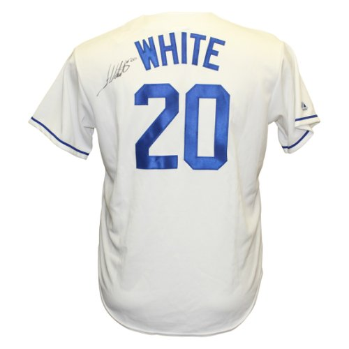 cf587745085 Frank White Autographed Signed Los Angeles Dodgers MLB Jersey - Certified  Authentic