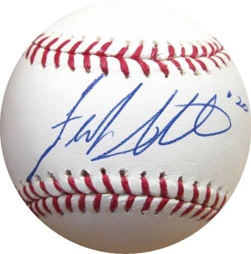 Frank Jeff Francouer Signed Baseball W/ Psa Coa royals