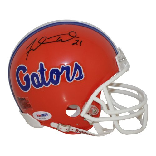 Fred Taylor Florida Gators Authographed Riddell Mini Helmet - PSA/DNA Authentic
