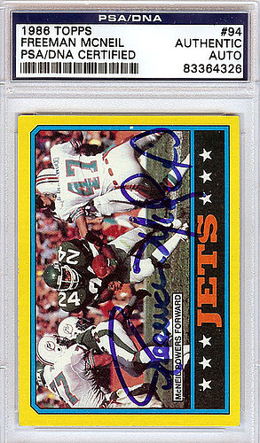 Freeman McNeil Autographed Signed 1986 Topps Card - PSA/DNA Certified