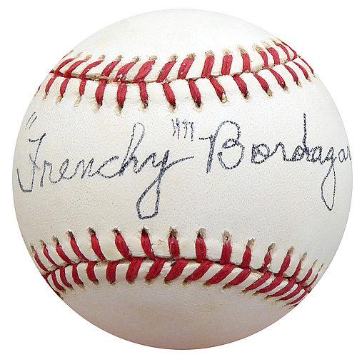 614c6f717de Frenchy Bordagary Autographed Signed Official NL Baseball Brooklyn Dodgers  Memorabilia - Beckett Authentic