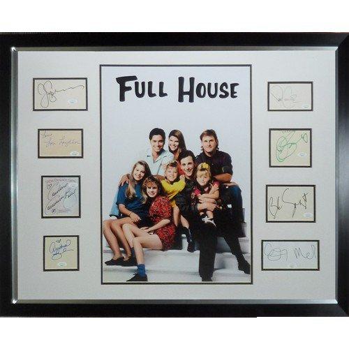 Full House Full-Size TV Poster Deluxe Framed with All 9 Cast Autographs - JSA