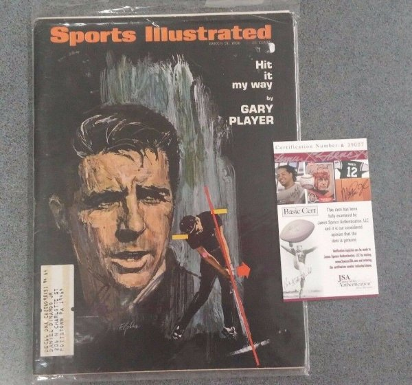 Gary Player Autographed Signed Sports Illustrated Magazine - JSA Authenticated