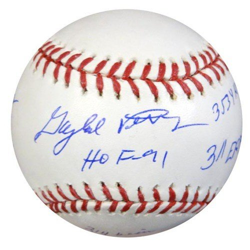 0d45ef21602 Gaylord Perry Autographed Signed MLB Baseball San Francisco Giants With 6  Stats - PSA DNA Certified