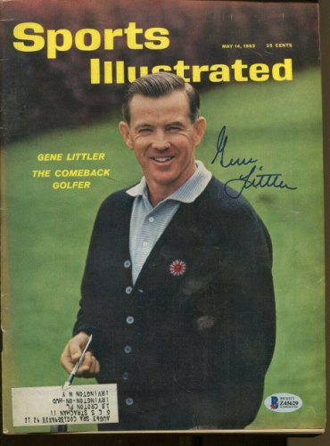 Gene Littler Autographed Signed Sports Illustrated 5/14/1962 Autographed Golf Beckett