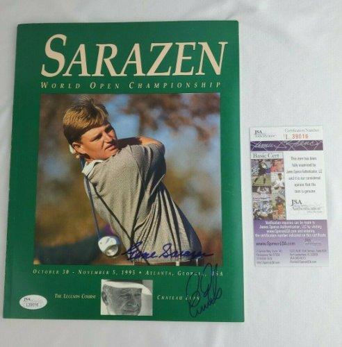 Gene Sarazen Autographed Signed Ernie Els Program World Open Championship 1995 JSA COA