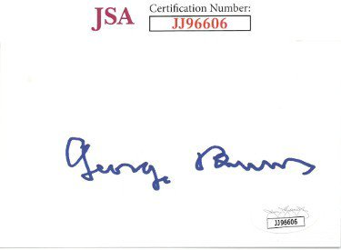 George Burns Autographed Signed 3x5 Index Card- JSA #JJ96606 (Comedian/Actor)