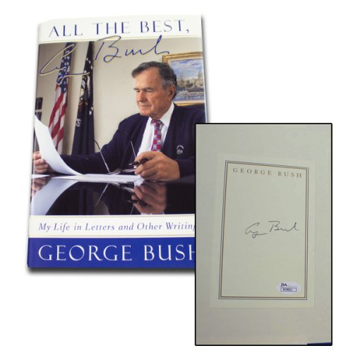 George H.W. Bush Autographed Signed Book All The Best: My Life in Letters and Other Writings - JSA Authentic