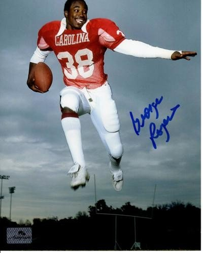 George Rogers Autographed Signed South Carolina Gamecocks (Jumping) 8X10 Photo