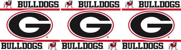 Georgia Bulldogs Wallpaper Border