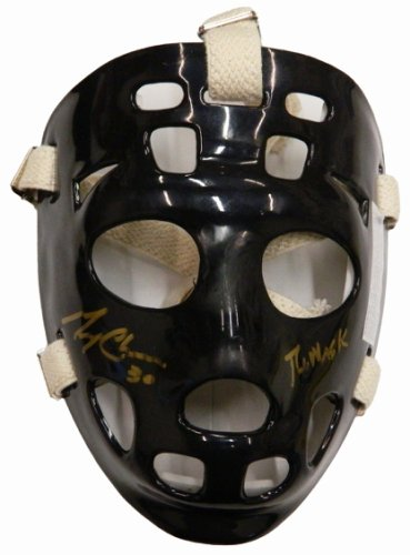 Gerry Cheevers Autographed Signed Black Hockey Goalie Mask w/The Mask