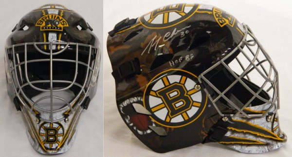 Gerry Cheevers Autographed Signed Boston Bruins Replica Hockey Goalie Mask w/HOF 85
