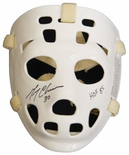 Gerry Cheevers Autographed Signed White Throwback Goalie Mask w/HOF 85