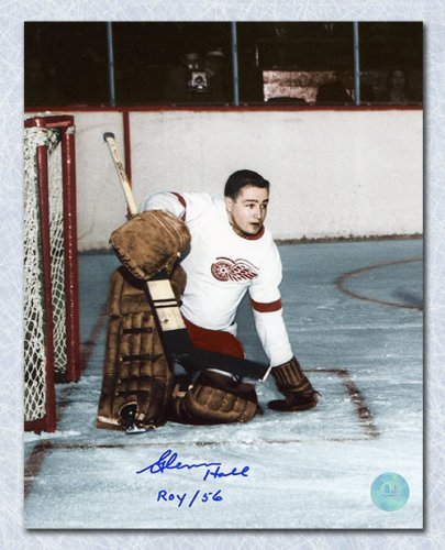 Glenn Hall Detroit Red Wings Autographed Signed Rookie 8x10 Photo w ROY 56  Note - Certified Authentic 2b98d4bee