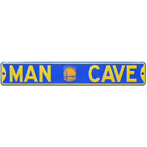 Golden State Warriors MAN CAVE Authentic Street Sign