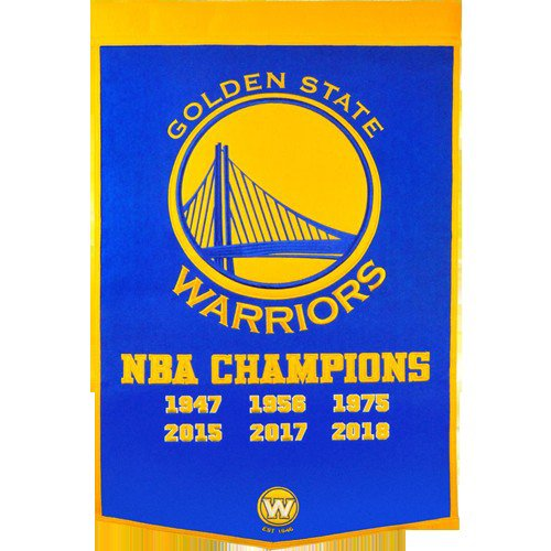 Golden State Warriors NBA Finals Championship Dynasty Banner - with hanging rod