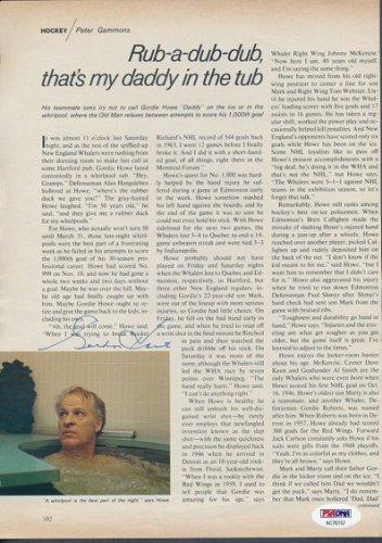 Gordie Howe Autographed Signed 8X11 Magazine Page Autograph Auto PSA/DNA