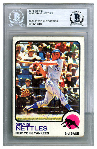 Graig Nettles Autographed Signed 1973 Topps Card  498 New York Yankees -  Beckett Authentic df615823528
