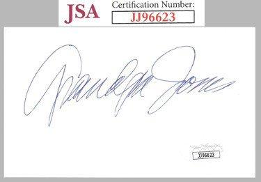 Grandpa Jones Autographed Signed 3x5 Index Card    JSA #JJ96623 (Hee Haw)