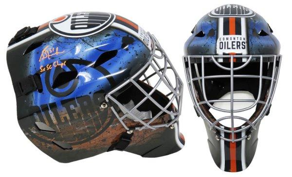Grant Fuhr Autographed Signed Edmonton Oilers Franklin Replica Goalie Mask w/5x SC Champs