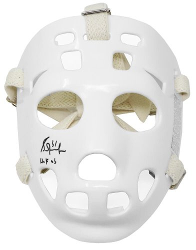 Grant Fuhr Autographed Signed White Throwback Hockey Goalie Mask w/HOF'03