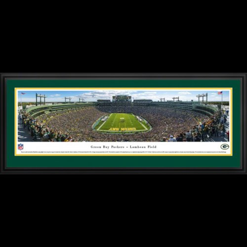 Green Bay Packers (End Zone) Framed Stadium Panoramic