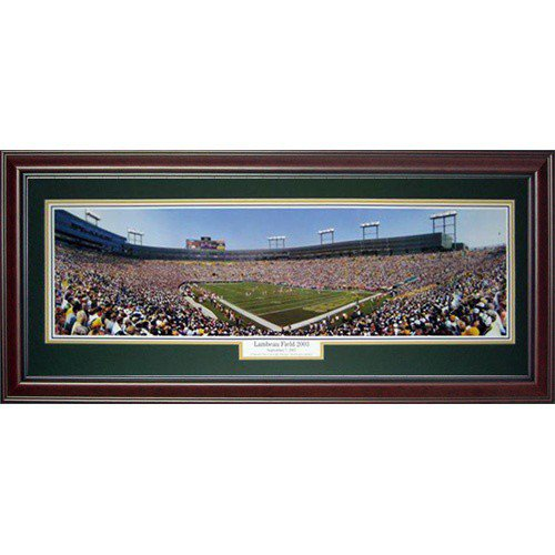 Green Bay Packers (Lambeau Field 2003) Deluxe Framed Panoramic Photo