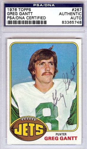 Greg Gantt Autographed Signed 1976 Topps Card - PSA/DNA Certified