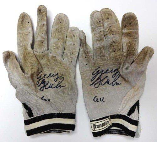 Greg Halman Autographed Signed Game Used Franklin Batting Gloves G.U. - PSA/DNA Certified