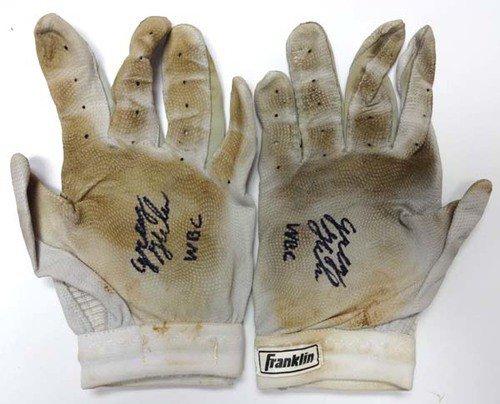 Greg Halman Autographed Signed Game Used Franklin Batting Gloves WBC - PSA/DNA Certified