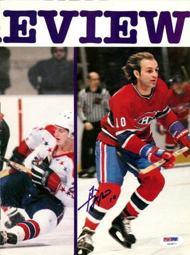 Guy Lafleur Autographed Signed Magazine Page Photo Canadiens - PSA/DNA Certified